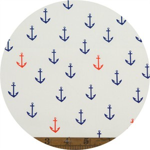 Emily Winfield Martin for Birch Organic Fabrics, Saltwater, Anchors Aweigh