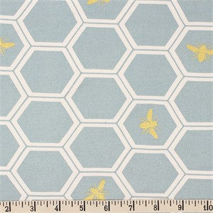COMING SOON, Jay-Cyn Designs for Birch Organic Fabrics, Mod Nouveau, KNIT, Honeycomb Mint Metallic