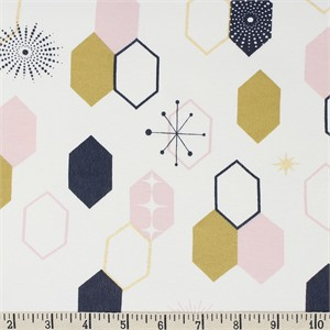 COMING SOON, Jay-Cyn Designs for Birch Organic Fabrics, Mod Nouveau, KNIT, Oblong Hex Blush