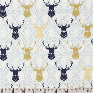 COMING SOON, Jay-Cyn Designs for Birch Organic Fabrics, Mod Nouveau, CANVAS, Elk Diamond