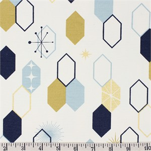 COMING SOON, Jay-Cyn Designs for Birch Organic Fabrics, Mod Nouveau, CANVAS, Oblong Hex Mint