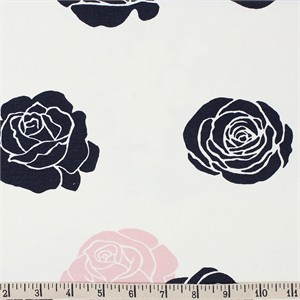 COMING SOON, Jay-Cyn Designs for Birch Organic Fabrics, Mod Nouveau, CANVAS, Roses Blush