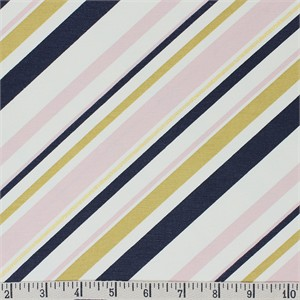 COMING SOON, Jay-Cyn Designs for Birch Organic Fabrics, Mod Nouveau, CANVAS, Stripe Blush Metallic