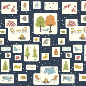 Jay-Cyn Designs for Birch Organic Fabrics, Camp Sur 3, Campout Blocks