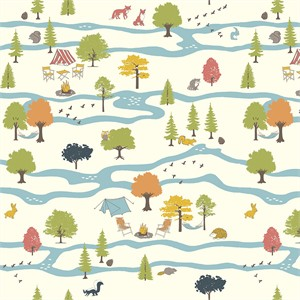 Jay-Cyn Designs for Birch Organic Fabrics, Camp Sur 3, Campout Main