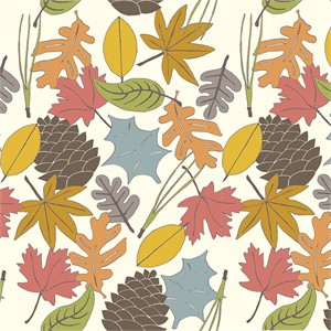 Jay-Cyn Designs for Birch Organic Fabrics, Camp Sur 3, Leaves