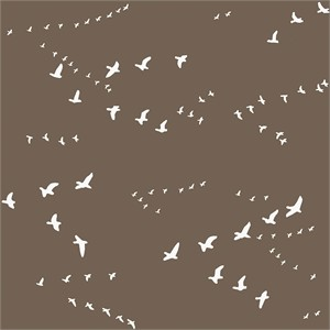 Jay-Cyn Designs for Birch Organic Fabrics, Camp Sur 3, Flight Brown