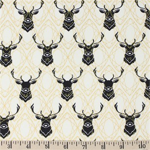 COMING SOON, Jay-Cyn Designs for Birch Organic Fabrics, Inkwell, Elk Diamonds Black/Metallic
