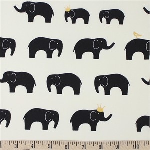 COMING SOON, Jay-Cyn Designs for Birch Organic Fabrics, Inkwell, Ellie Fam Black/Metallic