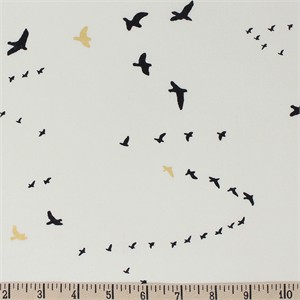 COMING SOON, Jay-Cyn Designs for Birch Organic Fabrics, Inkwell, Flight Black/Metallic