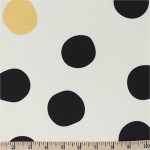 Jay-Cyn Designs for Birch Organic Fabrics, Inkwell, Shift Dot Black/Metallic