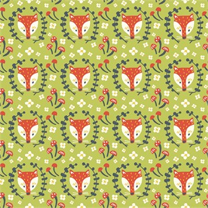AVAILABLE FOR PREORDER, Kristen Balouch for Birch Organic Fabrics, Folkland, Foxy Grass