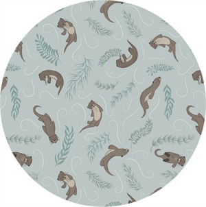 Lewis & Irene, Down By The River, Playful Otters Pale Blue
