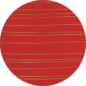 Melody Miller for Cotton and Steel, Fruit Dots, Gold Stripe Orange Metallic