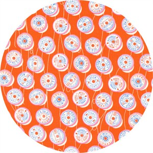 Melody Miller for Cotton and Steel, Trinket, Spools Orange
