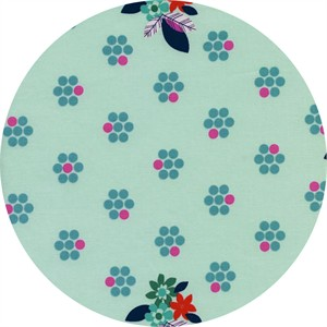 Melody Miller for Cotton and Steel, Fruit Dots, Fruit Blossoms Mint