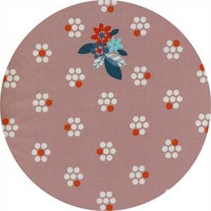 Melody Miller for Cotton and Steel, Fruit Dots, Fruit Blossoms Pink