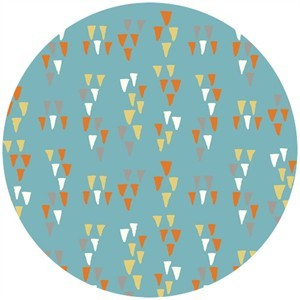 Miriam Bos for Birch Organic Fabrics, Wildland, Arrowheads Mid Blue