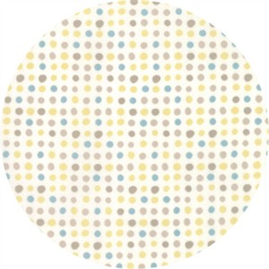 Moda, Corner of 5th and Fun, BRUSHED COTTON, Dots Ivory Sunshine