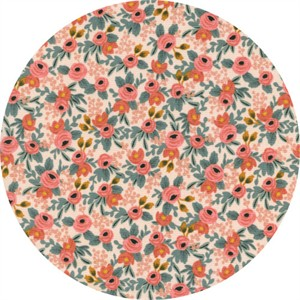 Rifle Paper Co. for Cotton and Steel, Les Fleurs, Rosa Peach