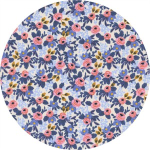 Rifle Paper Co. for Cotton and Steel, Les Fleurs, Rosa Periwinkle