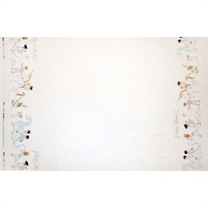 "Sarah Jane for Michael Miller, Magic!, Magical Parade Double Border Metallic White (23"" panel)"