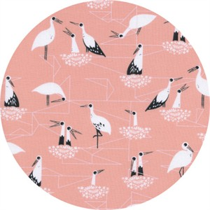 Sarah Watts for Cotton and Steel, From Porto With Love, Stork Nest Pink