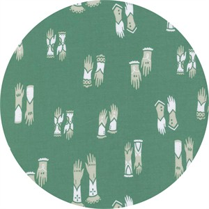 Sarah Watts for Cotton and Steel, Cat Lady, Kitten Mittens Blue