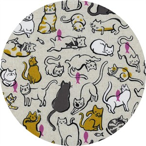 Sarah Watts for Cotton and Steel, Cat Lady, Schmitties Mustard