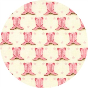 Stacy Iest Hsu for Moda, Howdy, Boots Porcelain Pink