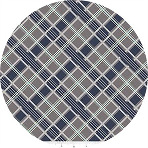 Sugar Sisters Design for Riley Blake, Keep On Groovin', Plaid Gray