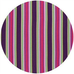 Tula Pink for Free Spirit, Chipper, Tick Tock Stripe Raspberry