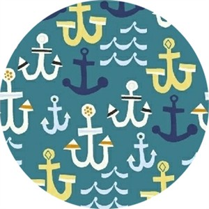Windham Fabrics, Seaside, Anchors Teal