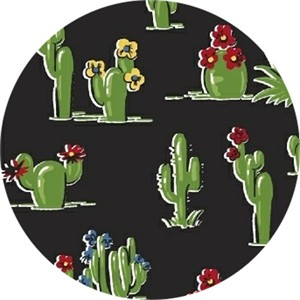 Windham Fabrics, South of the Border, Cacti Black