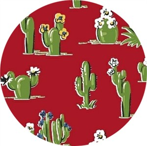 Windham Fabrics, South of the Border, Cacti Red