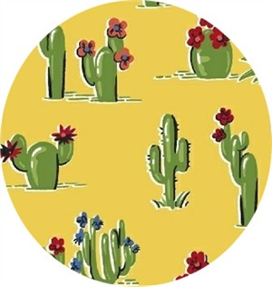 Windham Fabrics, South of the Border, Cacti Yellow