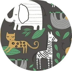 Windham Fabrics, Wild About You, It's a Jungle Out There Charcoal