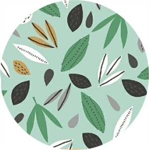 Windham Fabrics, Wild About You, Leaves Mint