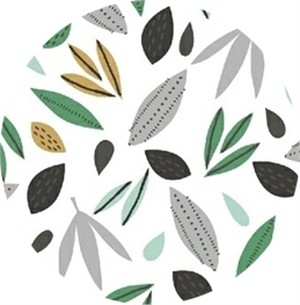Windham Fabrics, Wild About You, Leaves White