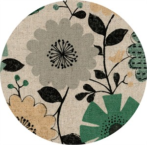 Cosmo Textiles, Country Table, OXFORD, Picnic Floral Neutral