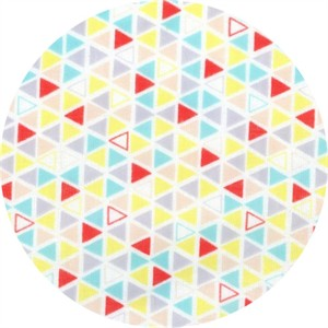 Cosmo Textiles, Mod Times, DOUBLE GAUZE, Triangles Red/Multi