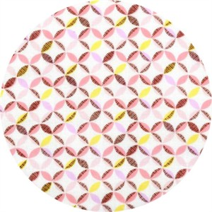 Cosmo Textiles, Mod Times, DOUBLE GAUZE, Lattice Pink