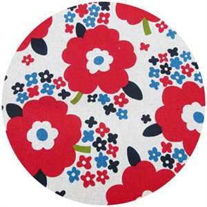 Cosmo Textiles, Sizing Up Florals, Red