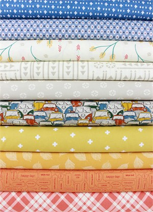 Fabricworm Custom Bundle, Country Cruize in FAT QUARTERS 10 Total