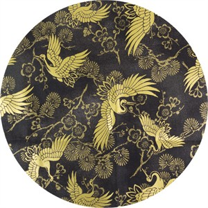 Japanese Import, Celebration METALLIC, Cranes Black