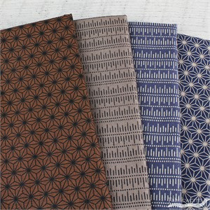 Japanese Import, CREPE de Chine, Texture in FAT QUARTERS 4 Total