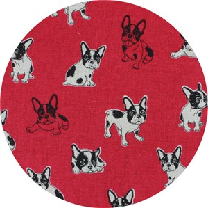 Japanese Import, CANVAS, Cute Pup Fuchsia
