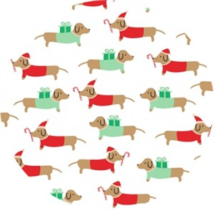 Dear Stella, Christmas Darlings, Dachshunds White