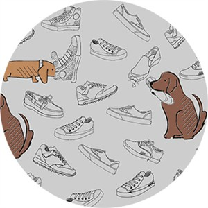 Sally Bell Sharp for Ink & Arrow, Dawg, Dawgs & Sneakers Grey