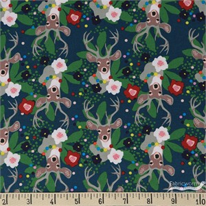 Elizabeth Grubaugh for Blend, A Winter's Tail, Deer Santa Blue
